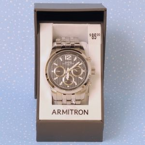 Armitron Watch 20/4991BKSV Stainless Link Band